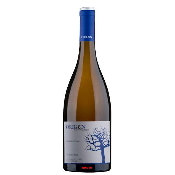 Rượu Vang Origen Gran Reserva White