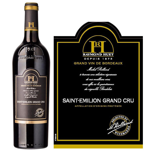 Rượu Vang Raymond Huet Saint Emilion Grand Cru