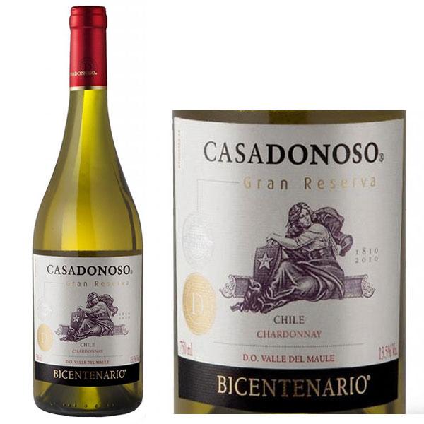 Rượu Vang CasaDonoso Bicentenario Gran Reserva Chardonnay