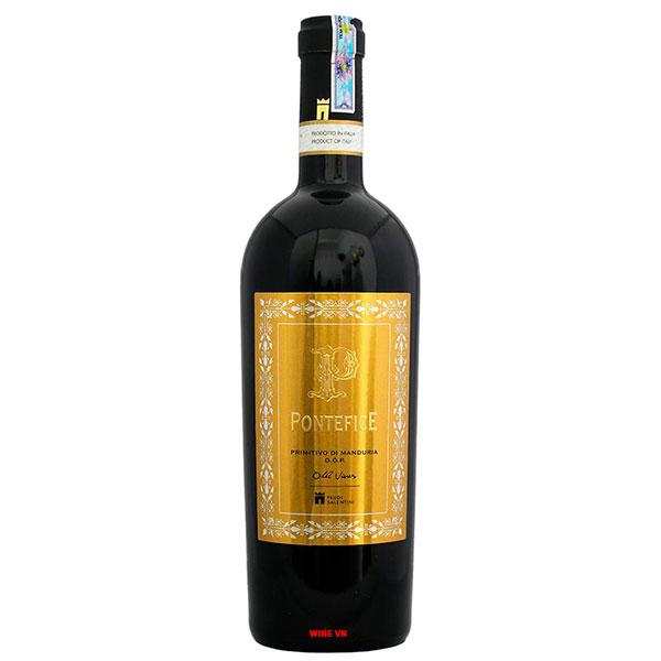 Rượu Vang Pontefice Primitivo Di Manduria