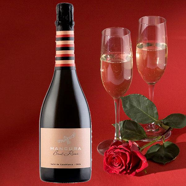 Rượu vang Mancura Brut Rose