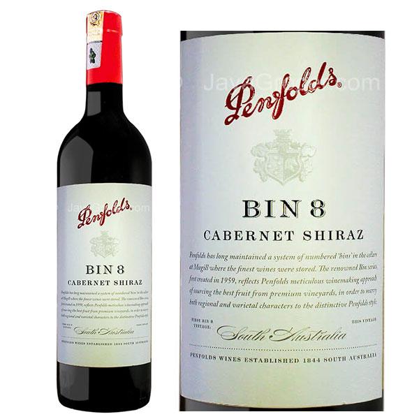 Rượu vang Penfolds Bin 8 Cabernet Shiraz