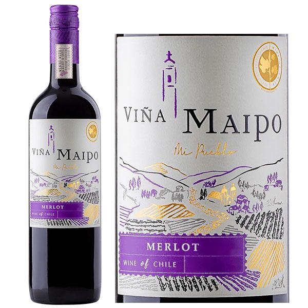 Rượu Vang Chile Vina Maipo Mi Pueblo Merlot