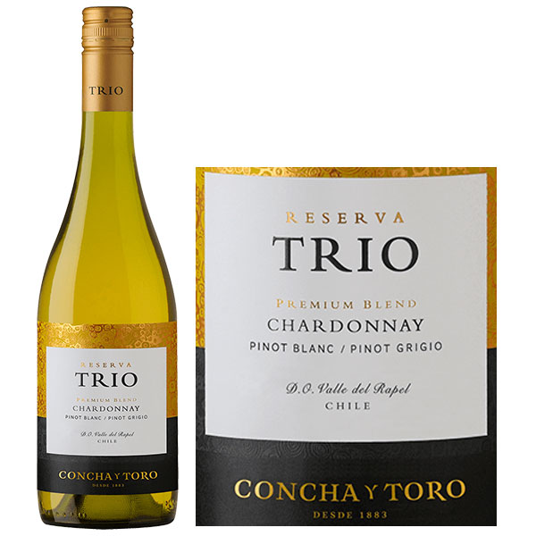 Rượu Vang Concha Y Toro Trio Reserva Chardonnay