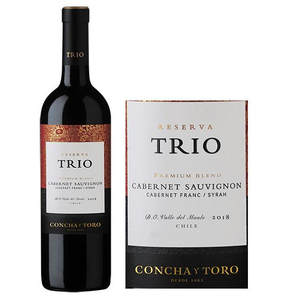 Rượu Vang Trio Reserva Cabernet Sauvignon - Cabernet Franc - Syrah