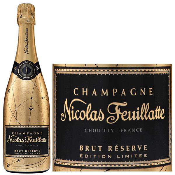 Rượu Champagne Nicolas Feuillatte Brut Réserve Gold