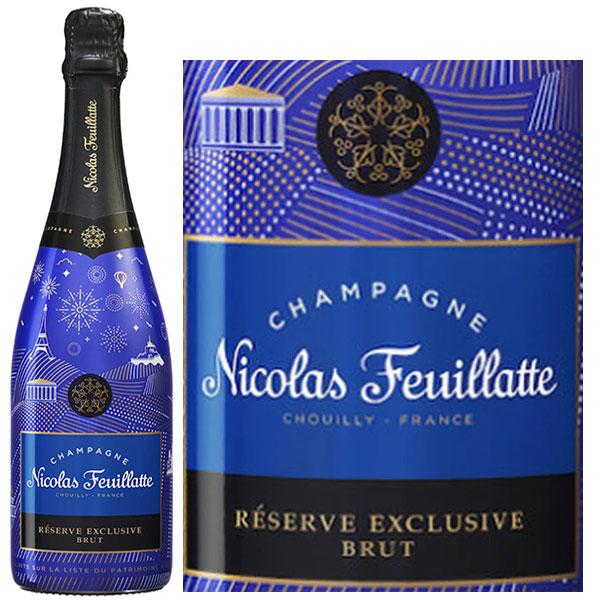 Rượu Champagne Nicolas Feuillatte Reserve Exclusive Blue