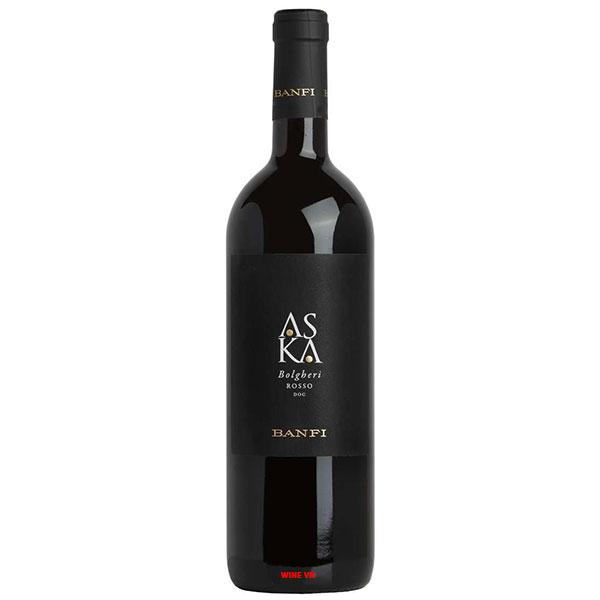 Rượu Vang Ý Banfi Aska Bolgheri Rosso