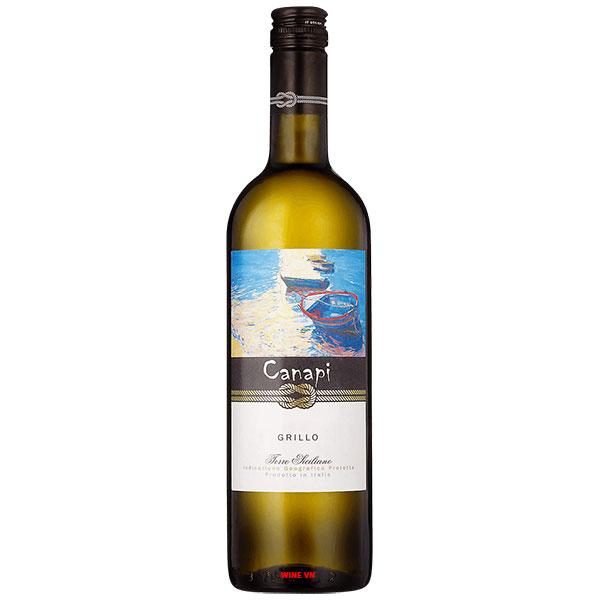 Rượu Vang Ý Canapi Grillo Sicilia