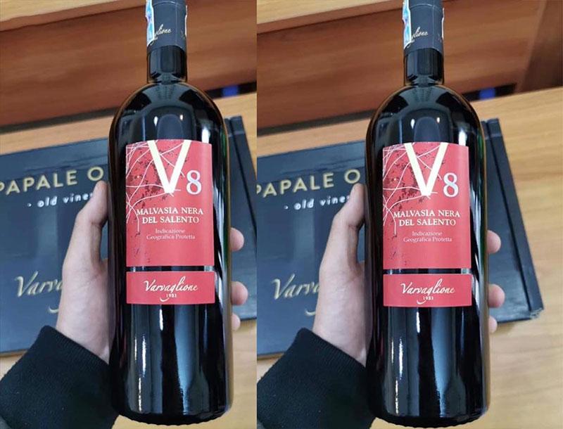 Rượu Vang Ý V8 Malvasia Nera Varvaglione 1921
