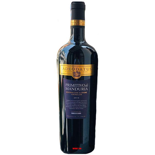 Rượu Vang Adeodatus Primitivo Di Manduria