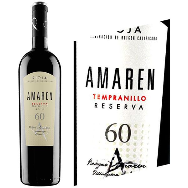 Rượu Vang Amaren 60 Reserva Tempranillo