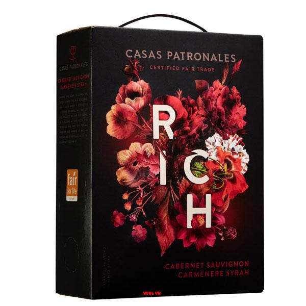 Rượu Vang Bịch Chile Rich Casas Patronales