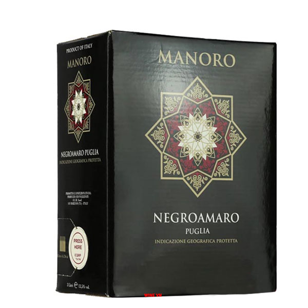 Rượu Vang Bịch Manoro Negroamaro