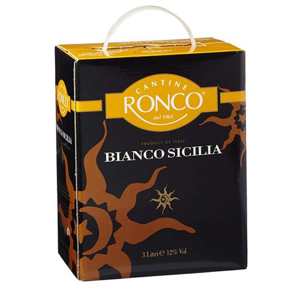 Rượu Vang Bịch Ronco Sicilia Bianco