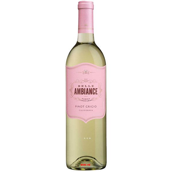 Rượu Vang Belle Ambiance Pinot Grigio