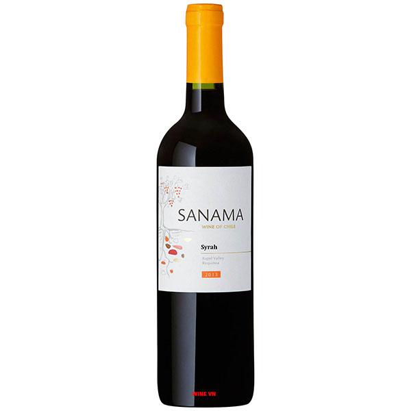 Rượu Vang Chile Sanama Syrah