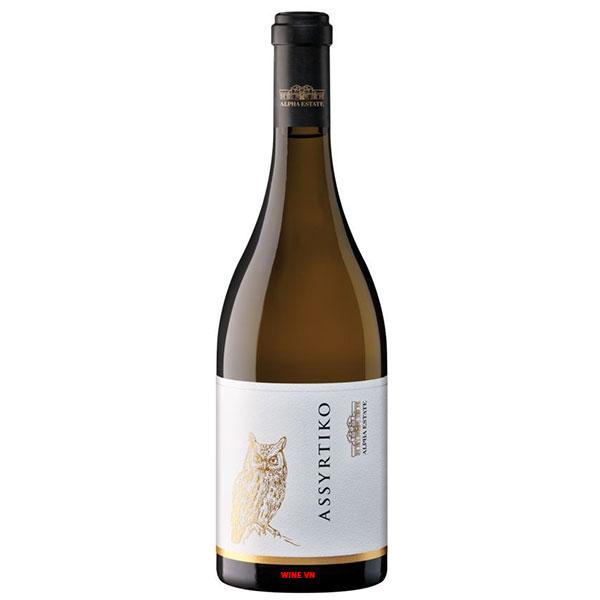 Rượu Vang Hy Lạp Alpha Estate Assyrtiko