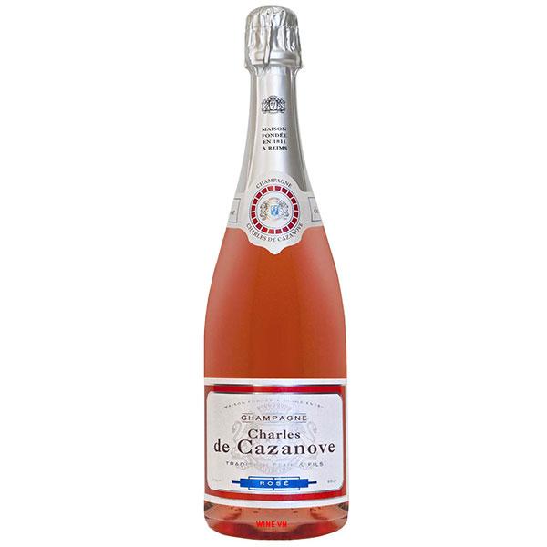 Rượu Champagne Charles De Cazanove Brut Rose