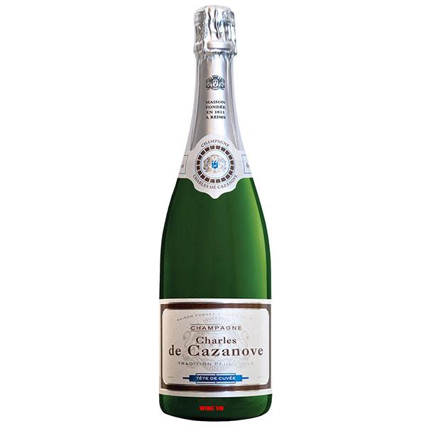 Rượu Champagne Charles De Cazanove Brut Tete De Cuvee