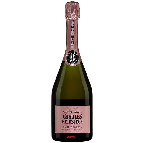 Rượu Sâm Banh Charles Heidsieck Rosé Réserve
