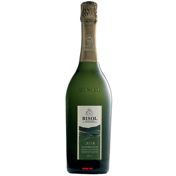 Rượu Vang Nổ Bisol Cru Crede Prosecco Brut