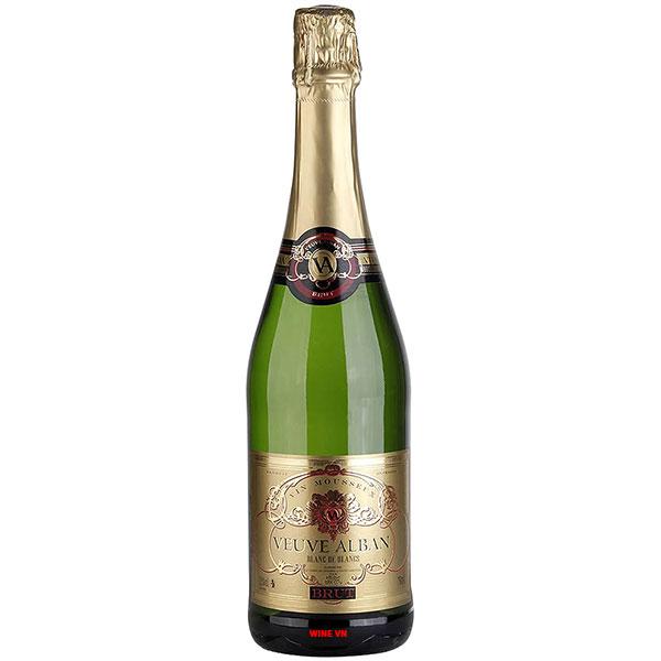 Rượu Vang Nổ Mousseux Veuve Alban Blanc