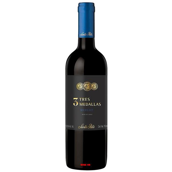Rượu Vang Santa Rita Tres Medallas Merlot