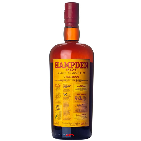 Rượu Rum Hampden Single Pure Jamaican Overproof