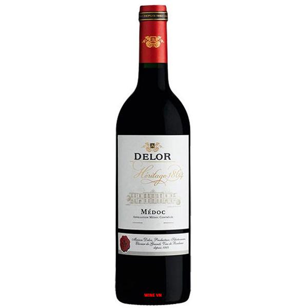 Rượu Vang Đỏ Delor Heritage 1864 Bordeaux