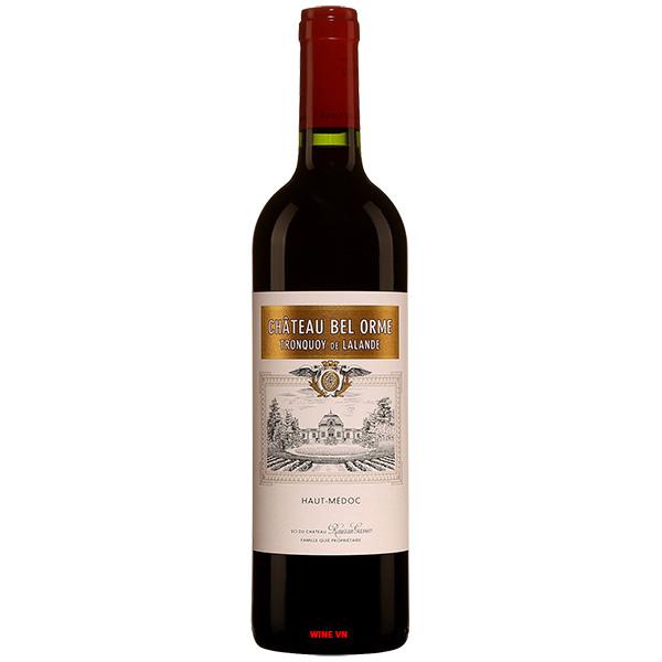 Rượu Vang Château Bel Orme Tronquoy De Lalande