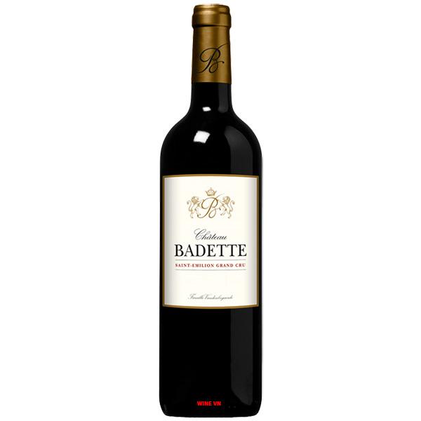 Rượu Vang Chateau Badette Saint Emilion Grand Cru