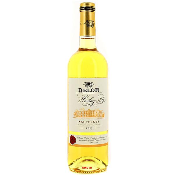 Rượu Vang Delor Héritage 1864 Sauternes