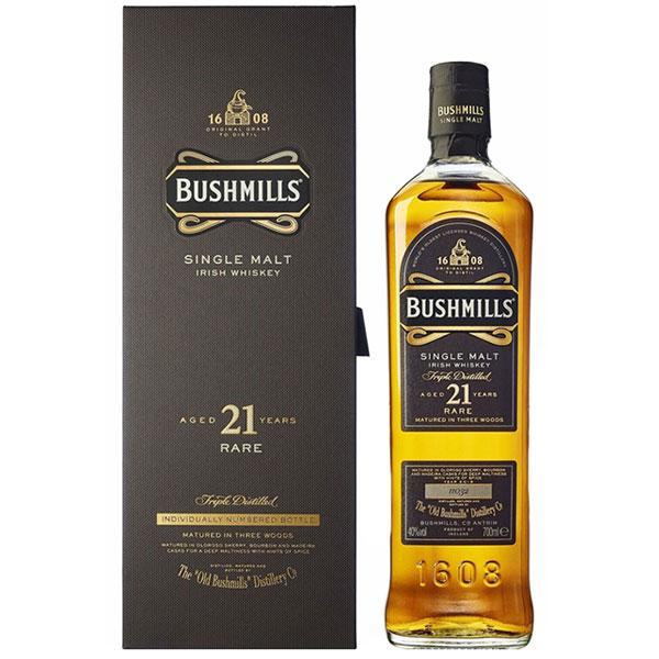 Rượu Bushmills Single Malt 21 Years Old