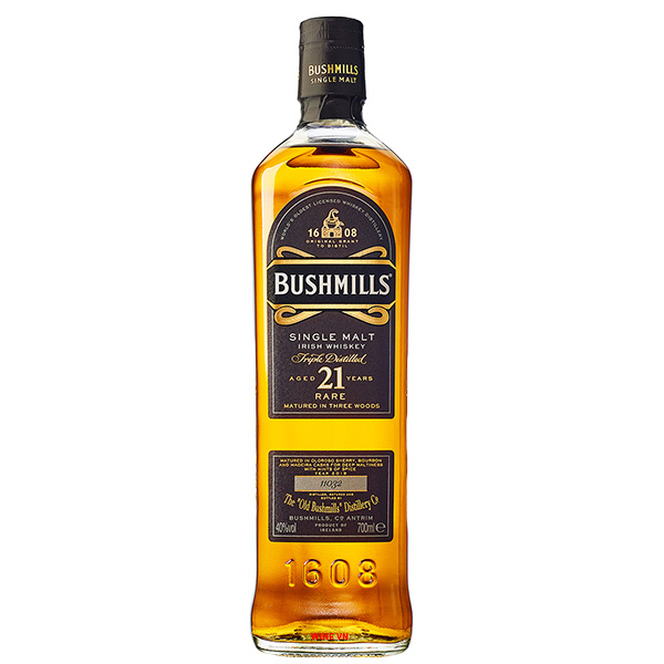 Rượu Bushmills Single Malt 21 Years Old