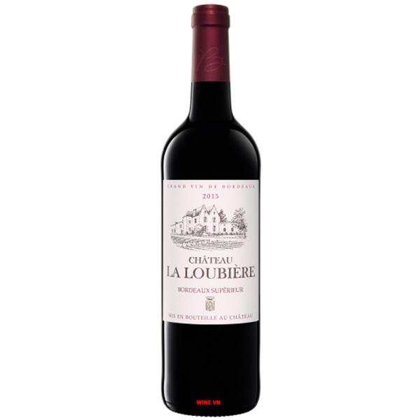 Rượu Vang Đỏ Chateau Loubiere