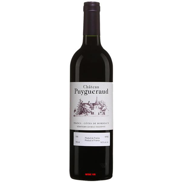 Rượu Vang Đỏ Chateau Puygueraud