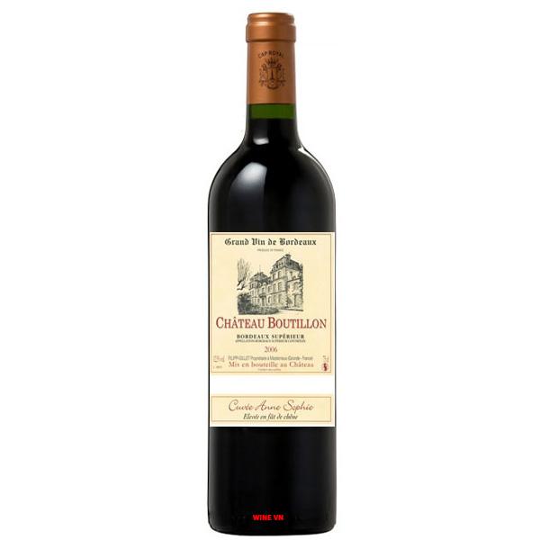 Rượu Vang Chateau Boutillon Bordeaux Superieur Cuvee Anne Sophie