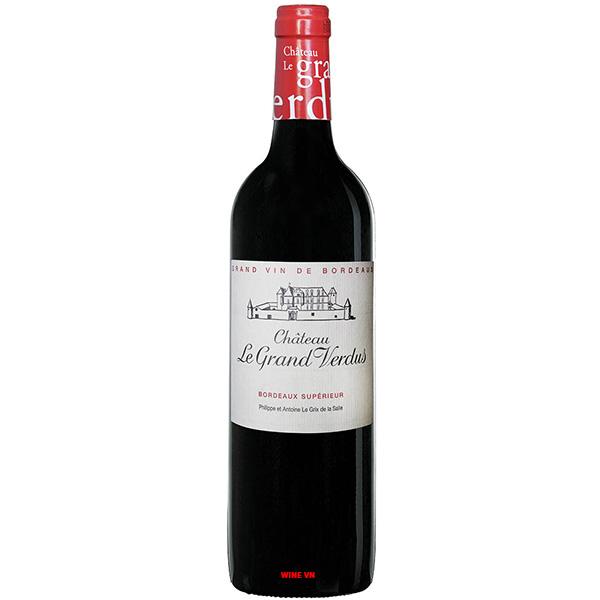 Rượu Vang Chateau Le Grand Verdus Bordeaux Supérieur