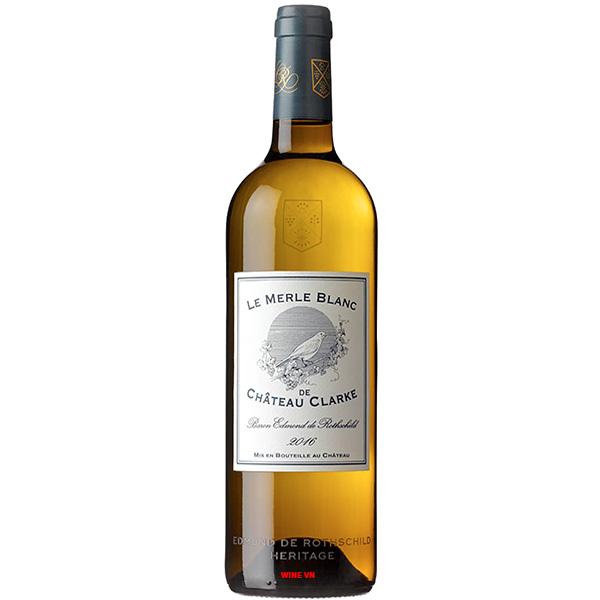 Rượu Vang Le Merle Blanc De Chateau Clarke