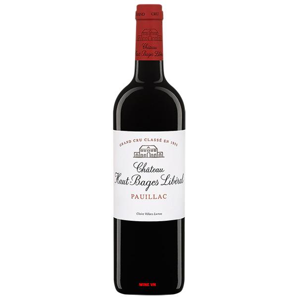 Rượu Vang Pháp Chateau Haut Bages Liberal