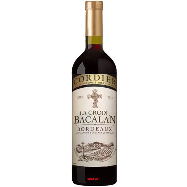 Rượu Vang Pháp Cordier La Croix Bacalan Bordeaux