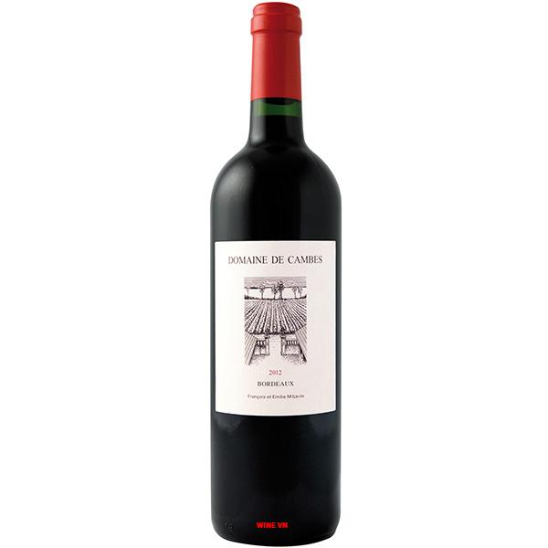 Rượu Vang Pháp Domaine De Cambes Bordeaux