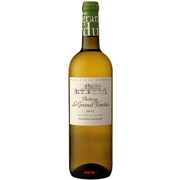 Rượu Vang Trắng Chateau Le Grand Verdus