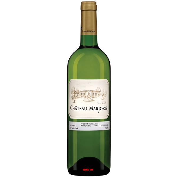 Rượu Vang Trắng Chateau Marjosse