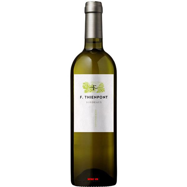 Rượu Vang Trắng F.Thienpont Bordeaux