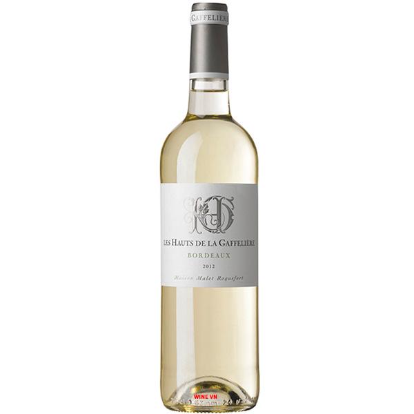 Rượu Vang Trắng Les Hauts De La Gaffeliere