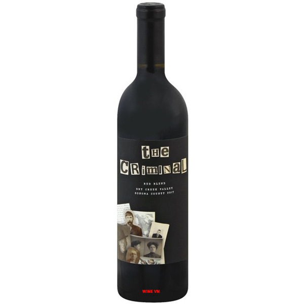 Rượu Vang The Criminal Red Blend