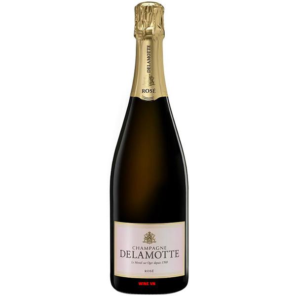 Rượu Champagne Delamotte Rose