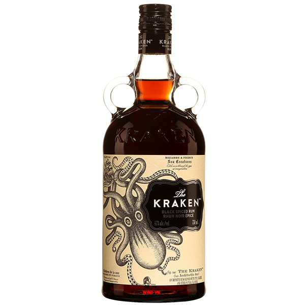 Rượu The Kraken Dark Black Spiced Rum